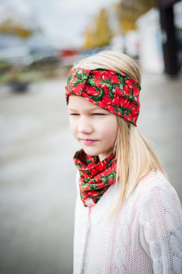 Maasikatega peapael ja torusall